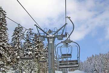 津別スキー場 第1ロマンスリフト支柱